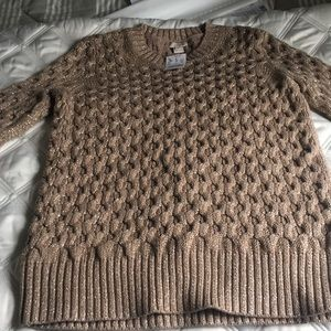 J crew gold metallic sweater NWT size S